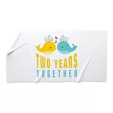 2nd aniversary celebration Beach Towel