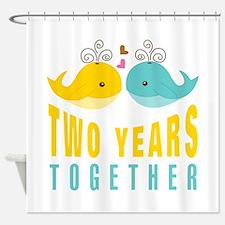2nd aniversary celebration Shower Curtain