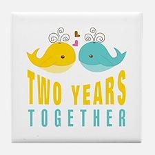 2nd aniversary celebration Tile Coaster