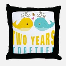 2nd aniversary celebration Throw Pillow