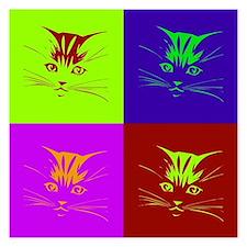 Pop art cat face Invitations