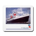 SS United States Photo Portrait Mousepad