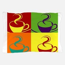 Pop art coffee cup Pillow Case