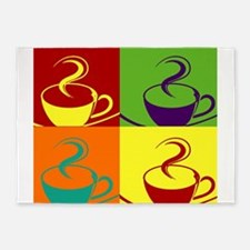 Pop art coffee cup 5'x7'Area Rug