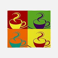 Pop art coffee cup Throw Blanket