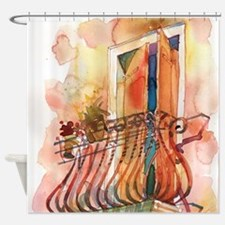 Cute Balconies Shower Curtain