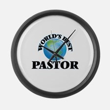 World's Best Pastor Large Wall Clock