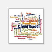 Cheerleading Word Cloud Sticker