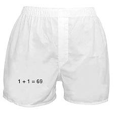 1+1 = 69 Boxer Shorts