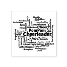 Cheerleading Word Cloud Sticker