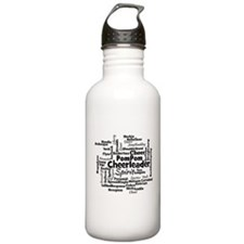 Cheerleading Word Cloud Water Bottle