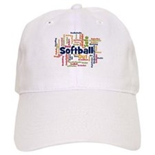 Softball Word Cloud Baseball Baseball Cap