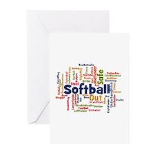 Softball Word Cloud Greeting Cards