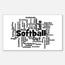 Softball Word Cloud Decal