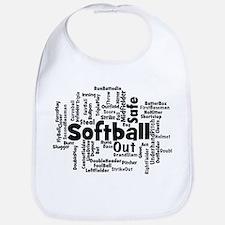 Softball Word Cloud Bib