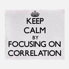 Keep Calm by focusing on Correlation Throw Blanket