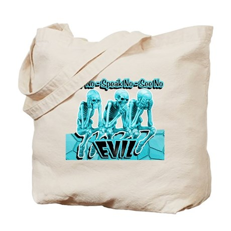 See-Speak-Hear-No EVIL Aqua 2 Tote Bag