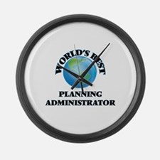 World's Best Planning Administrat Large Wall Clock