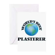 World's Best Plasterer Greeting Cards