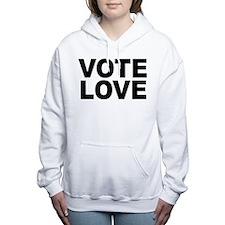 VOTE LOVE Women's Hooded Sweatshirt