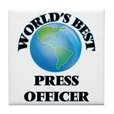 World's Best Press Officer Tile Coaster