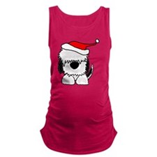 Sheepdog Christmas Maternity Tank Top