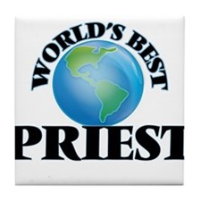 World's Best Priest Tile Coaster