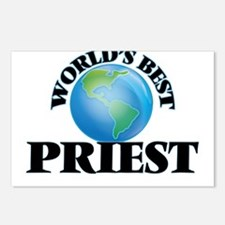 World's Best Priest Postcards (Package of 8)