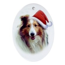 Beautiful Sable Sheltie Christmas Oval Ornament