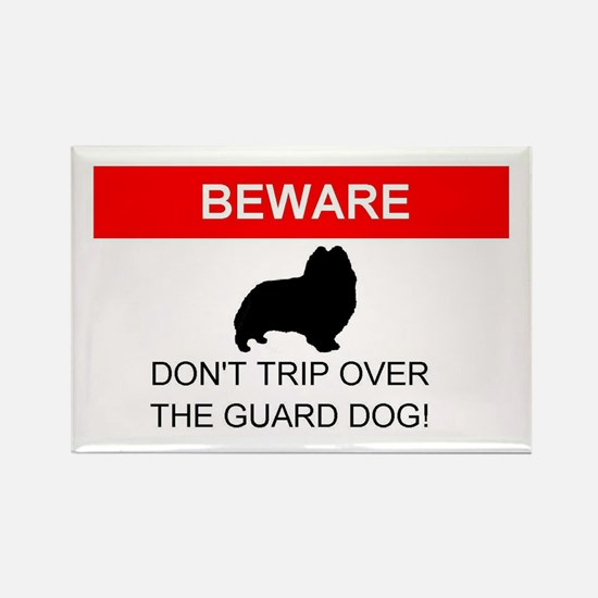 Dont Trip on the Guard Dog Rectangle Magnet
