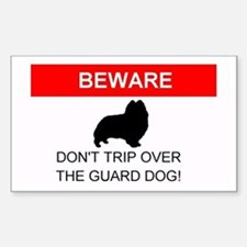 Dont Trip Over the Guard Dog Sheltie Bumper Stickers
