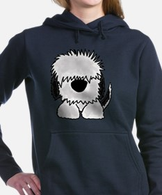 Sheepdog Cartoon Women's Hooded Sweatshirt