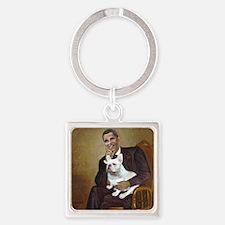 Obama-French BD (W) Square Keychain