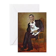 Obama-French BD (W) Greeting Card