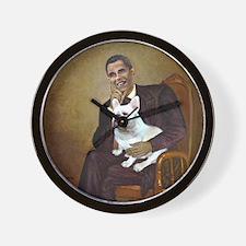 Obama-French BD (W) Wall Clock