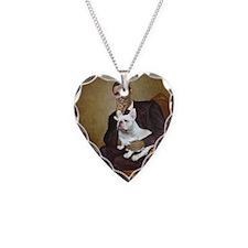 Obama-French BD (W) Necklace Heart Charm