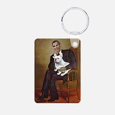 Obama-French BD (W) Keychains