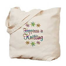 Happiness is Knitting Tote Bag