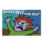 Eight United We Freak Out Postcards