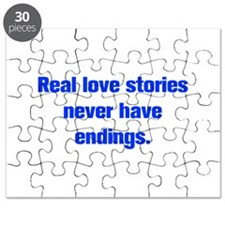 Real love stories never have endings Puzzle