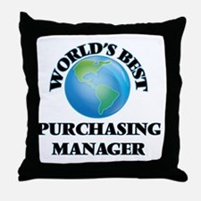 World's Best Purchasing Manager Throw Pillow