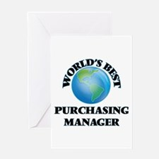 World's Best Purchasing Manager Greeting Cards