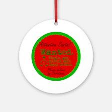 Ornament (Round). Christmas wish: Single gay male