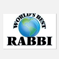 World's Best Rabbi Postcards (Package of 8)