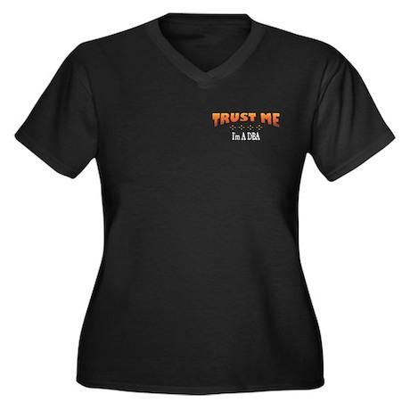 Trust DBA Women's Plus Size V-Neck Dark T-Shirt