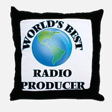 World's Best Radio Producer Throw Pillow