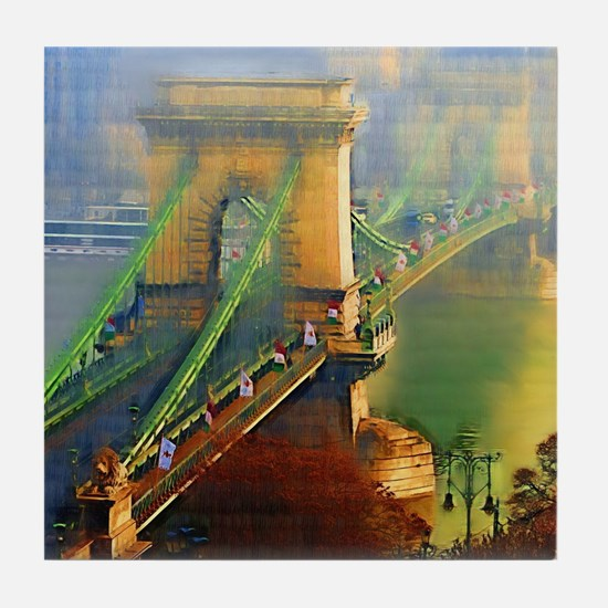 Bridge Over the Danube Tile Coaster