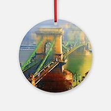 Bridge Over the Danube Ornament (Round)