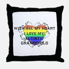 My Autistic Grandchild Throw Pillow