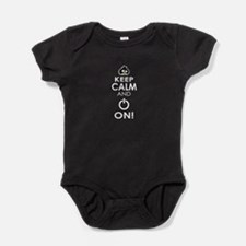 Keep Calm and Power On Baby Bodysuit